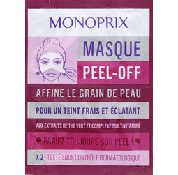 masque peel off monoprix