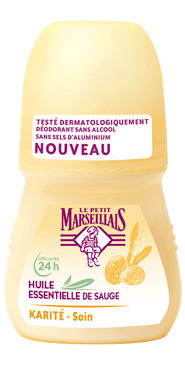 Déo sauge karité bille Petit Marseillais