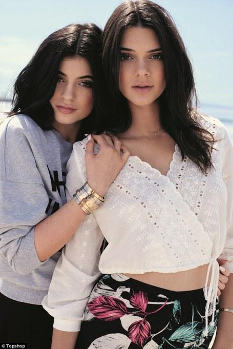 soeurs Jenner Topshop