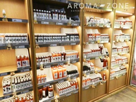 Boutique aroma zone étagères