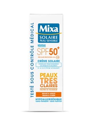 crème solaire peaux très claires mixa